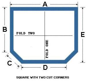 Square with Two Cut Corners